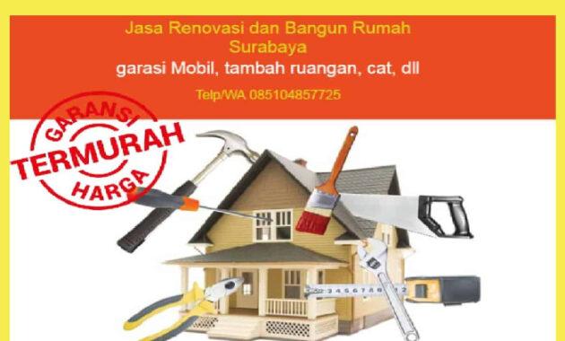 Jasa Borongan Bangun Rumah Surabaya, jasa bangun rumah